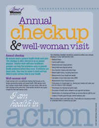Annual checkup & well-woman visit